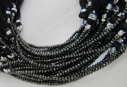 Black Diamond Faceted Beads Strand,100 % AAA Genuine 10