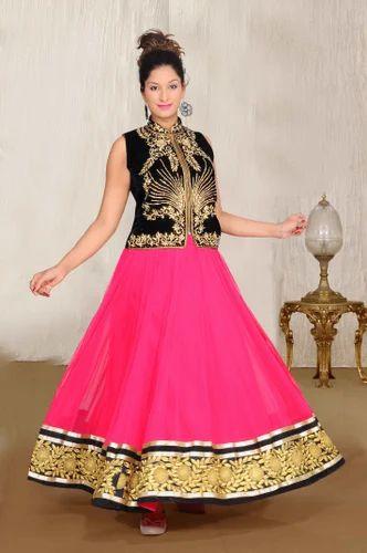 Fancy Jacket Gown at Rs 6500 /piece | Ladies Gown Suit, Ladies Ka ...