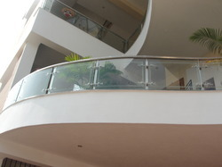 Glass Spiral Balcony Railings
