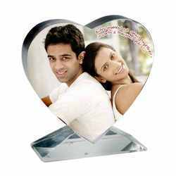 Personalised Heart Shaped Photo Crystal