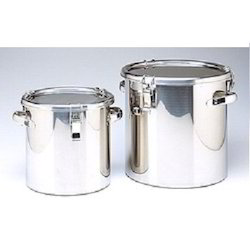 Stainless Steel Container, Capacity: 10kg to 25kg, Size: 8.5 x 12.9 cm