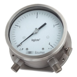Baumer Differential Pressure Gauge Bellow Type
