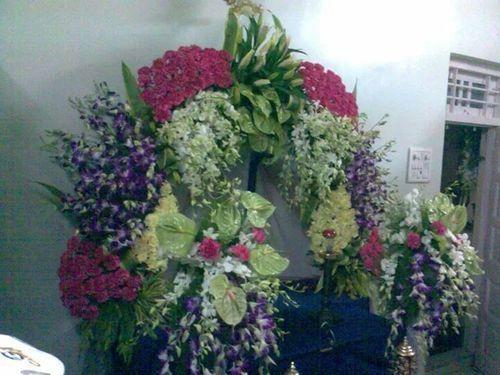 ganpati flower decoration in mumbai dadar west by rajnigandha