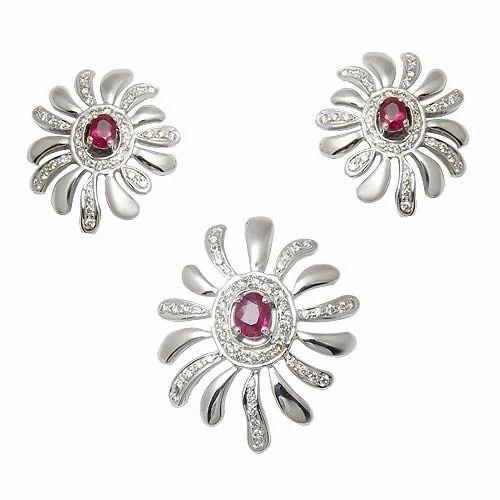 Ruby diamond pendant set at rs 60000 piece diamond pendant set ruby diamond pendant set aloadofball Image collections