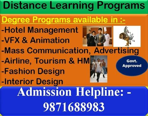 Distance Learning Courses MBA B Btech BABsc Mtech Msc BA Service Provider From Delhi