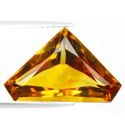 Shining Citrine Princess Cut Loose Stone