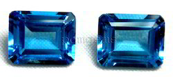 Swiss Blue Topaz Faceted Octagon Gemstone