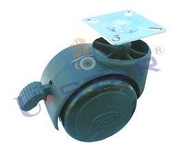 Break Twin Wheel Caster