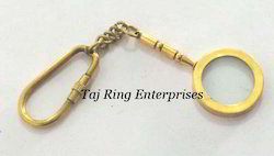 Brass Magnifying Key Chain