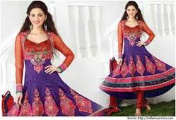 Purple,Orange Embroidery Zari