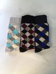 Men Long Cotton Lycra Socks