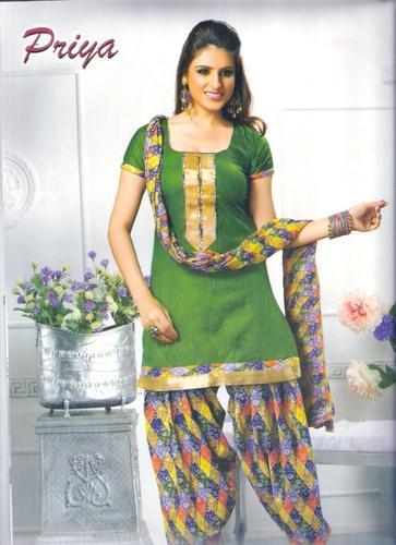 Cotton Fancy Designer Dress Salwar Suits Materials Rs 300 Piece