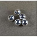 Shiny Sterling Silver 8mm Plain Beads