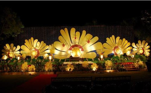 School stage background decoration for Annual function decoration