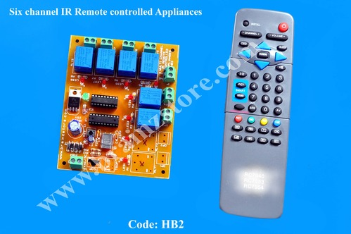 Six Channel IR Remote Controlled Appliances - Brainz Store