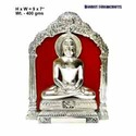 Silver Plated Mahavir Statue