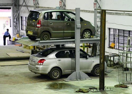 Parking System Two Leg Hydraulic Car Stack Parking
