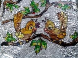 Foil Glass Painting
