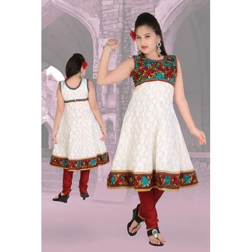 28469077df Cotton Sleeveless Girls Anarkali Suit, Rs 1405 /piece(s), Real ...