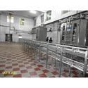 Milk Packing Machine With Crate Conveyor