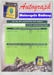 Autograph Motorcycle Battery