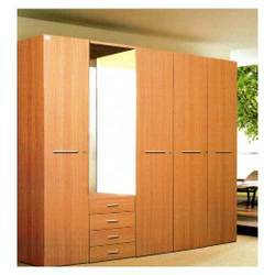 Steel Wardrobe with Plywood Shutter