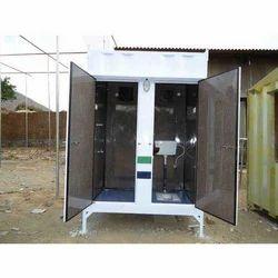 Mild Steel Porta Toilet Cabin