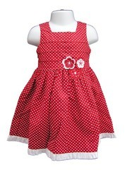 Designer Red Baby Frock