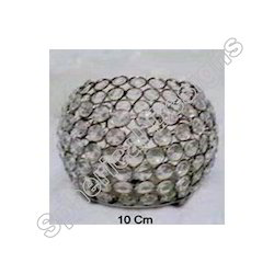 Metal and Crystal Beaded Votive