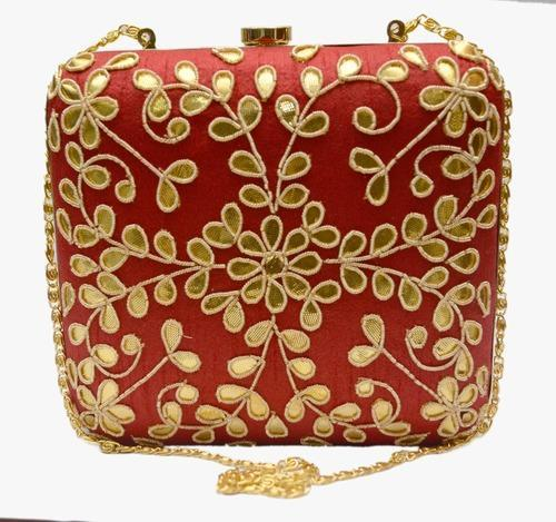 21d8b4b6d Multicolor Printed Gota Patti Box Clutches On Silk, Rs 1580 /piece ...
