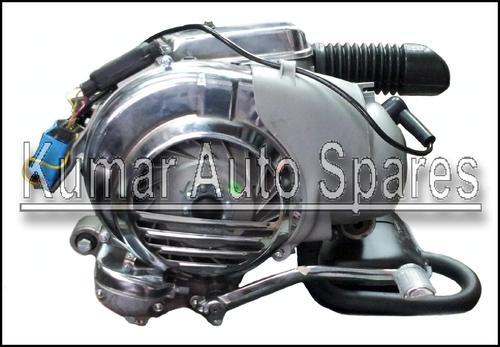 Lml Vespa 5 Port Complete Engine With Reed Valve ,exhaust Etc