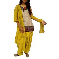 Yellow Patiala Salwar