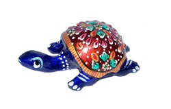 1 Inch Tortoise Meenakari Metal Wedding Gift Item