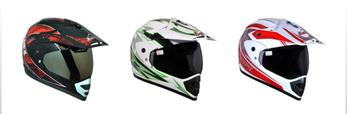 Aaron Black Motocross Decor Sporty Helmet