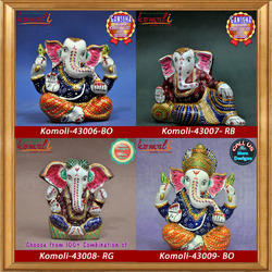 Meenakari Ganesha - Vibrant Colors