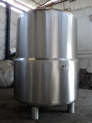Stainless Steel 316 Silver Color Purified Water Storage Tank