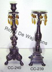 Beaded Antique Candle Stand