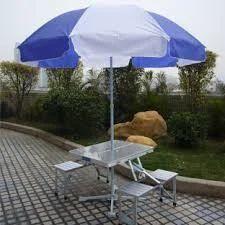 Aluminum Picnic Table Folding Umbrella Free