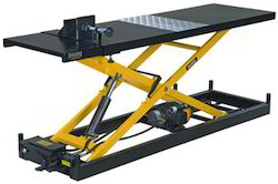 Two Wheeler Repair Table - Two Wheeler Ramp with power pack