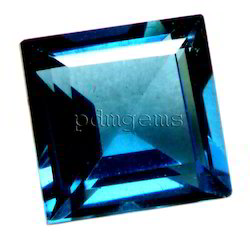 London Blue Topaz Faceted Square Gemstone