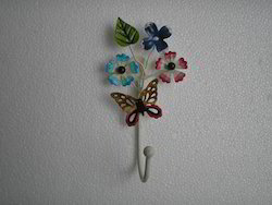 Iron Flower Coat Hook