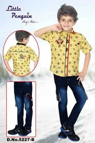 77563598825 Kids Jeans Shirt Set at Rs 395  set