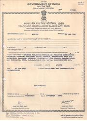 Trade Mark Registration Certificate