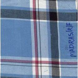 NGMADRAS-F Indigo Yarn Dyed Checks Fabric