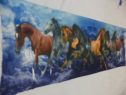 Fine Merino Wool Digital Printed Horse Design Stoles