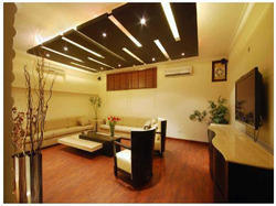 Wooden False Ceiling, False Ceiling & Roofing Supplies | Adhunik Designers  in Sainikpuri, Secunderabad | ID: 8527766762