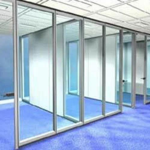 Aluminum Partition Aluminum Frame With Glass Partition