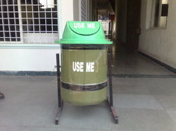 Swing Type Stand Dustbin for Outdoors/Indoors