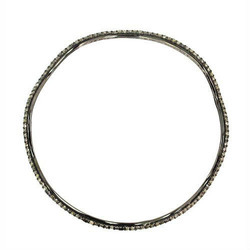 Pave Sleek Wave Bangle