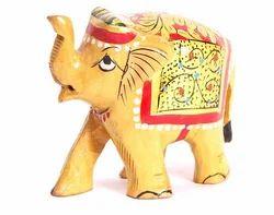 Morden Golden Wooden Elephant, for Home Decor